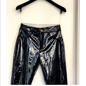 Pants - Black Vinyl Pants